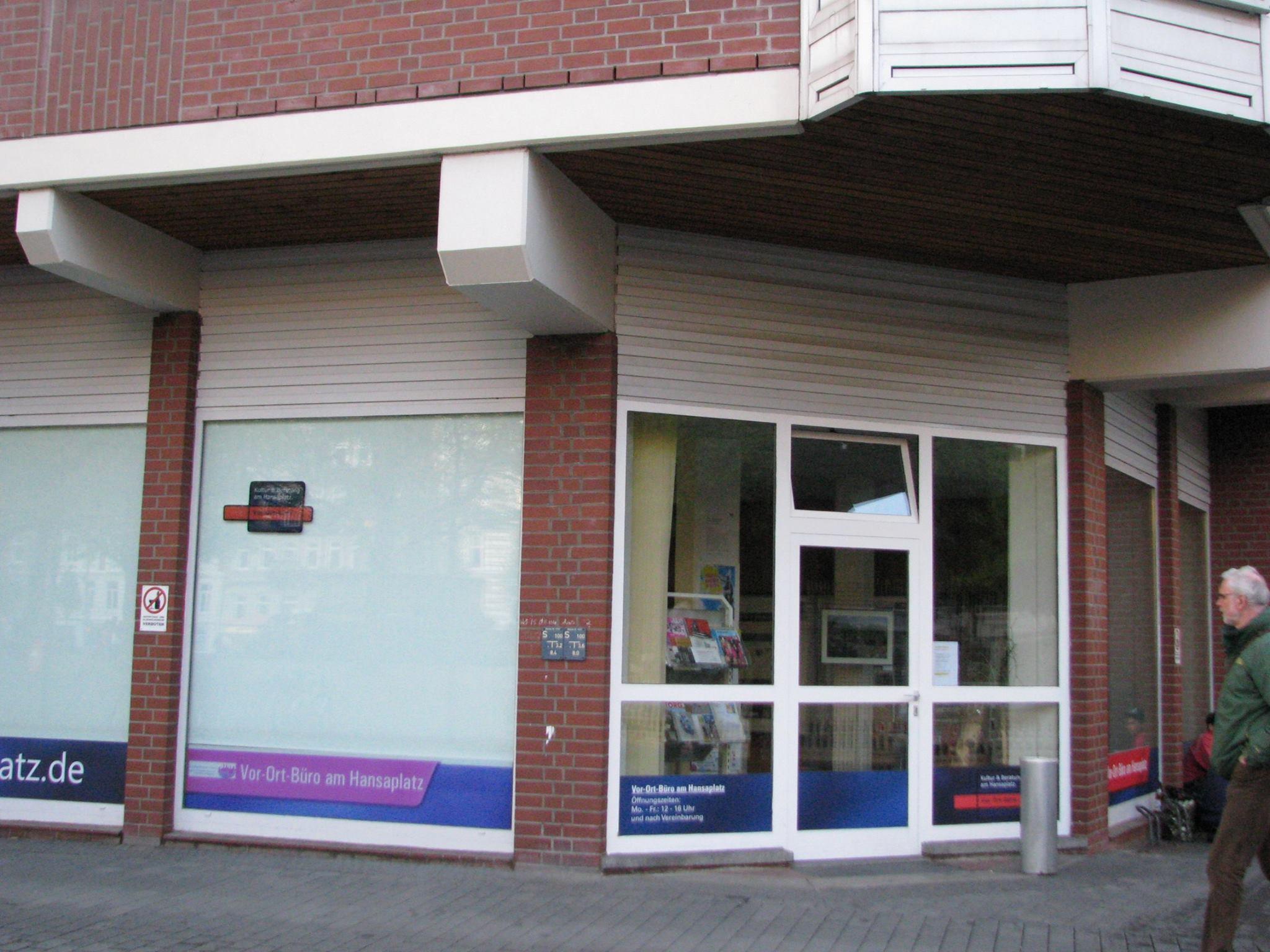 Zimmerpforte 8, Ecke Hansaplatz 10